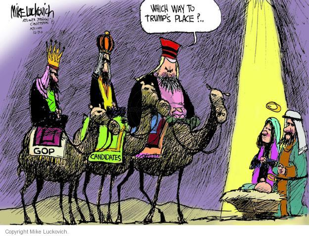Mike Luckovich  Mike Luckovich's Editorial Cartoons 2011-12-07 republican politician