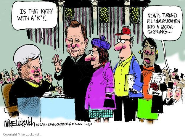 Cartoonist Mike Luckovich  Mike Luckovich's Editorial Cartoons 2011-12-18 book