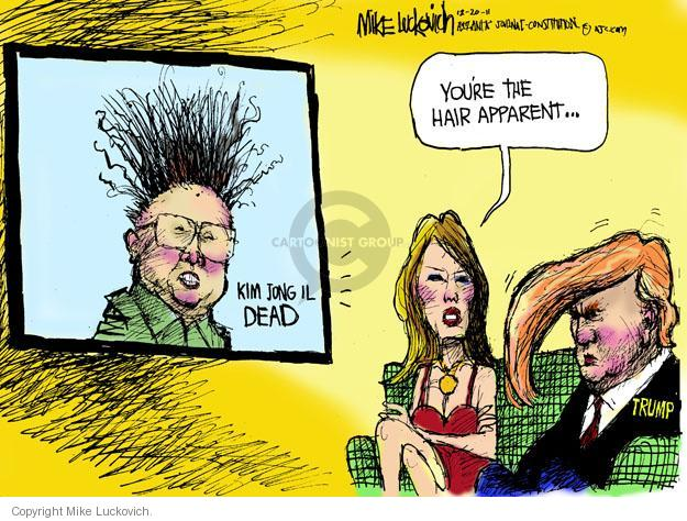 Cartoonist Mike Luckovich  Mike Luckovich's Editorial Cartoons 2011-12-20 dictator