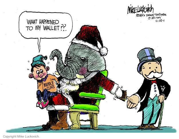 Mike Luckovich  Mike Luckovich's Editorial Cartoons 2011-12-22 republican politician