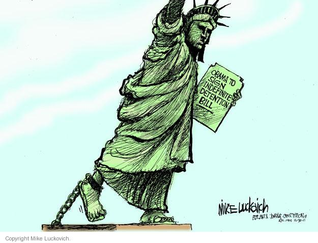 Cartoonist Mike Luckovich  Mike Luckovich's Editorial Cartoons 2011-12-30 liberty