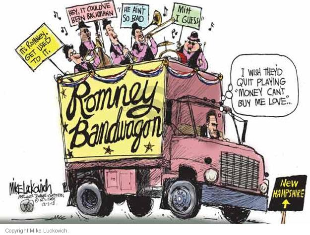Cartoonist Mike Luckovich  Mike Luckovich's Editorial Cartoons 2012-01-05 campaign slogan