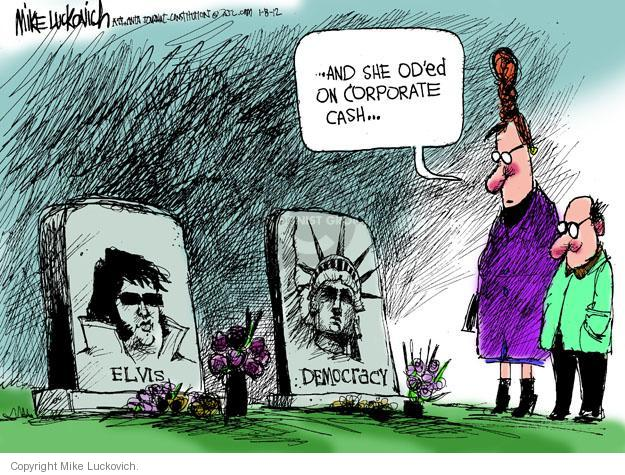 Mike Luckovich  Mike Luckovich's Editorial Cartoons 2012-01-08 democracy