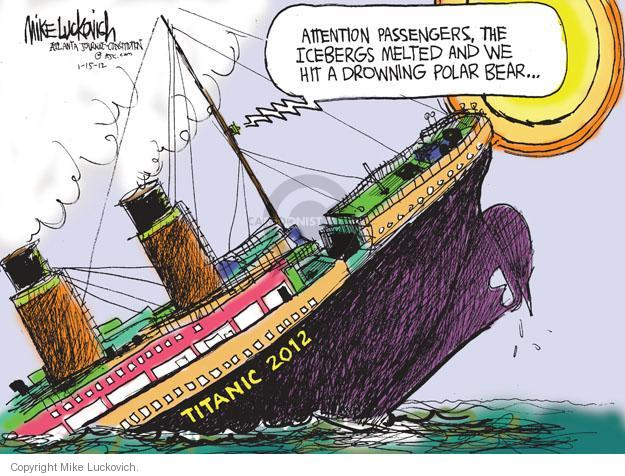 Mike Luckovich  Mike Luckovich's Editorial Cartoons 2012-01-15 sinking