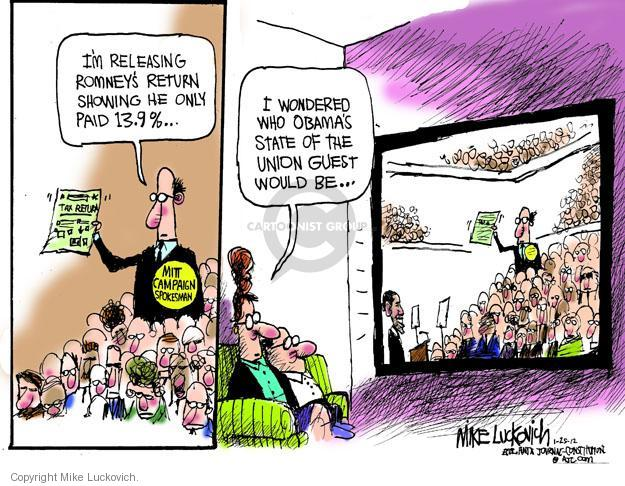 Mike Luckovich  Mike Luckovich's Editorial Cartoons 2012-01-25 Barack Obama