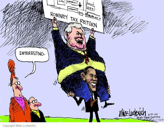 Mike Luckovich  Mike Luckovich's Editorial Cartoons 2012-01-26 former president