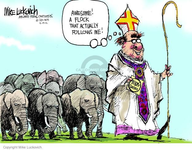 Cartoonist Mike Luckovich  Mike Luckovich's Editorial Cartoons 2012-02-17 religious liberty