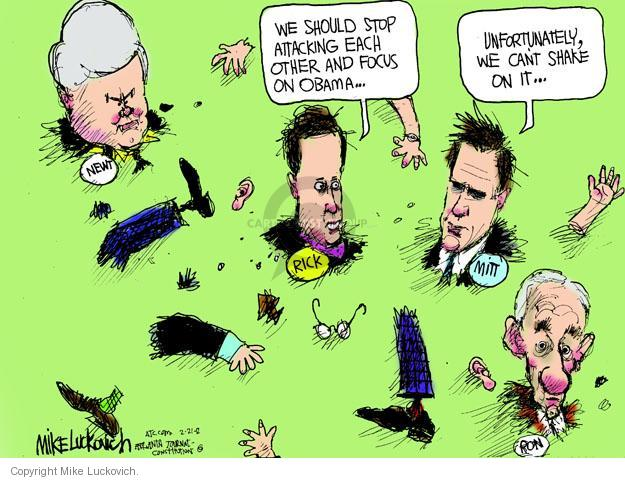 Mike Luckovich  Mike Luckovich's Editorial Cartoons 2012-02-21 Barack Obama