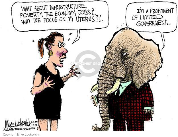 Cartoonist Mike Luckovich  Mike Luckovich's Editorial Cartoons 2012-02-23 woman