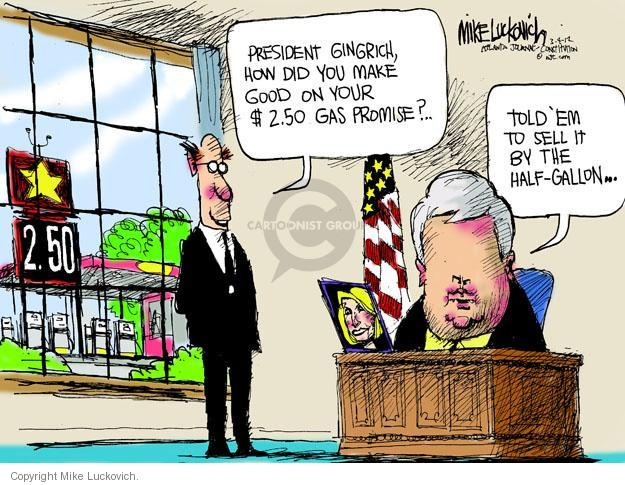 Mike Luckovich  Mike Luckovich's Editorial Cartoons 2012-03-04 former president
