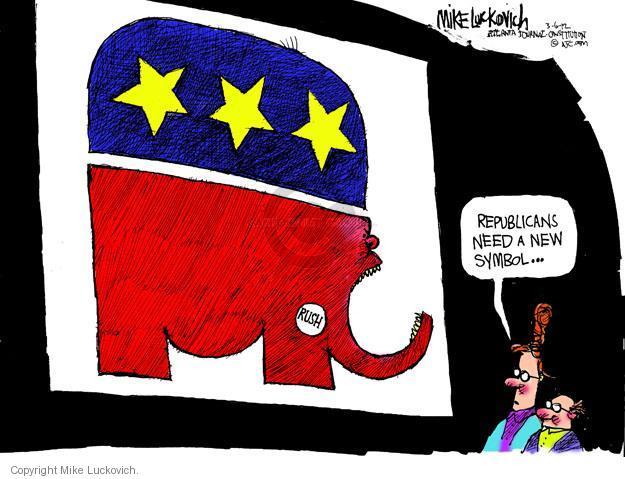 Mike Luckovich  Mike Luckovich's Editorial Cartoons 2012-03-06 republican politician