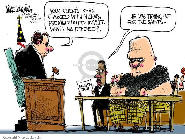 Cartoonist Mike Luckovich  Mike Luckovich's Editorial Cartoons 2012-03-09 criminal