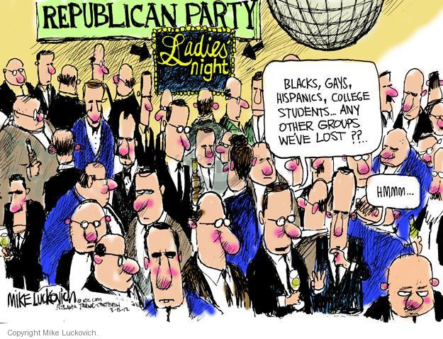 Mike Luckovich  Mike Luckovich's Editorial Cartoons 2012-03-15 republican politician