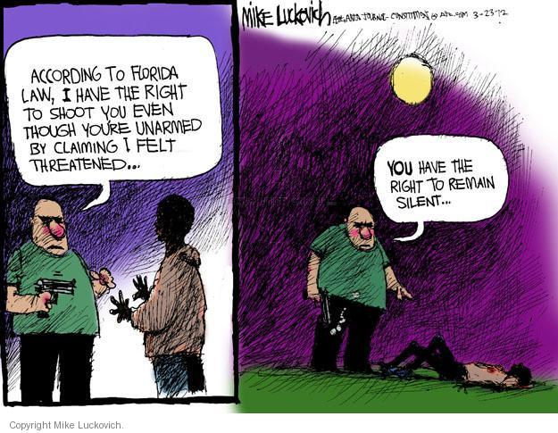 Cartoonist Mike Luckovich  Mike Luckovich's Editorial Cartoons 2012-03-23 racial