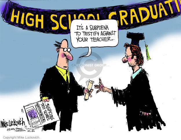 Cartoonist Mike Luckovich  Mike Luckovich's Editorial Cartoons 2012-04-01 high school