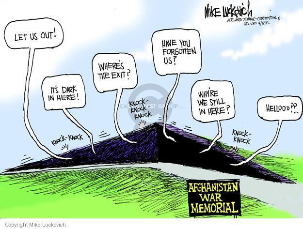Cartoonist Mike Luckovich  Mike Luckovich's Editorial Cartoons 2012-04-13 memorial