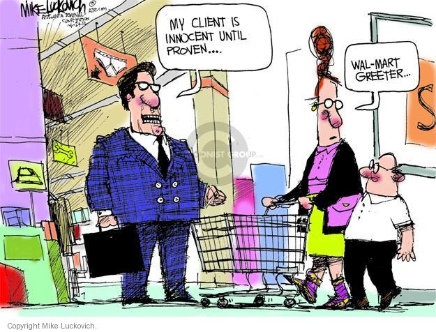 Mike Luckovich  Mike Luckovich's Editorial Cartoons 2012-04-24 lawyer