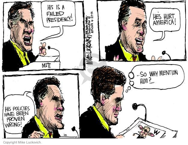 Mike Luckovich  Mike Luckovich's Editorial Cartoons 2012-04-27 Barack Obama