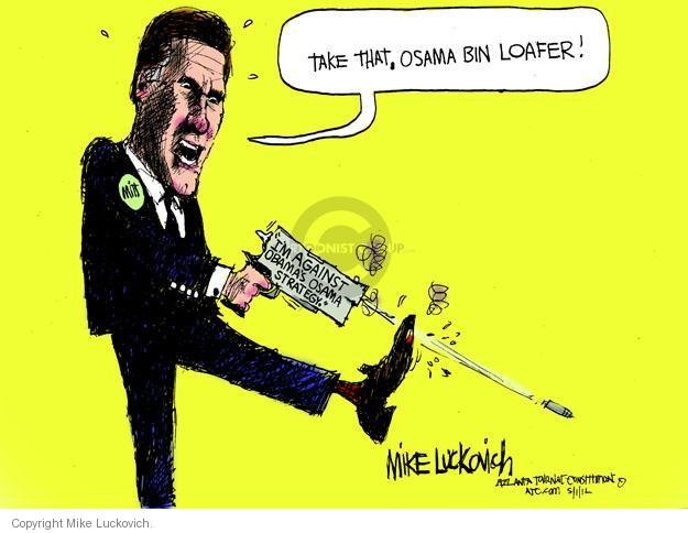 Mike Luckovich  Mike Luckovich's Editorial Cartoons 2012-05-01 Obama terrorism