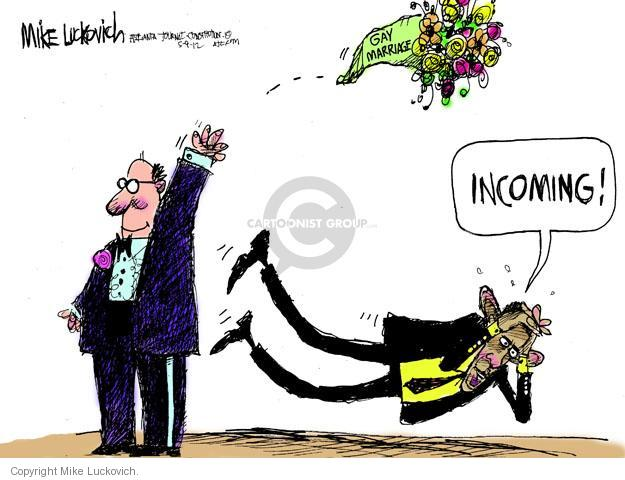 Mike Luckovich  Mike Luckovich's Editorial Cartoons 2012-05-09 Barack Obama
