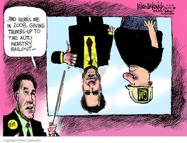 Mike Luckovich  Mike Luckovich's Editorial Cartoons 2012-05-11 thumbs up