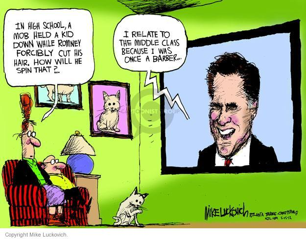 Cartoonist Mike Luckovich  Mike Luckovich's Editorial Cartoons 2012-05-15 cutting