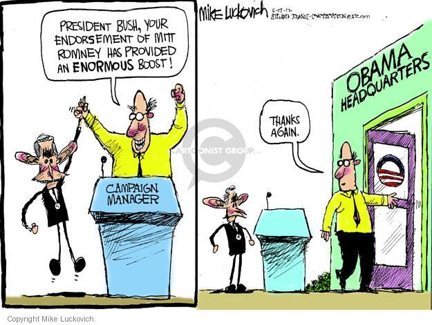 Mike Luckovich  Mike Luckovich's Editorial Cartoons 2012-05-17 former president