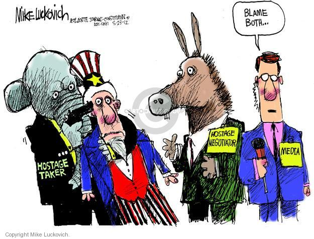 Cartoonist Mike Luckovich  Mike Luckovich's Editorial Cartoons 2012-05-23 blame