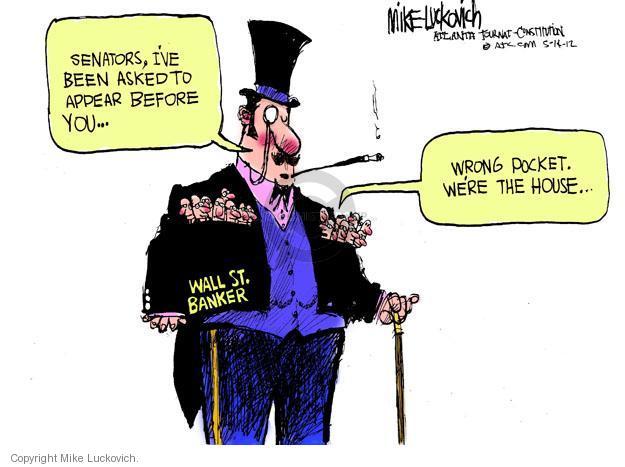 Cartoonist Mike Luckovich  Mike Luckovich's Editorial Cartoons 2012-06-14 finance