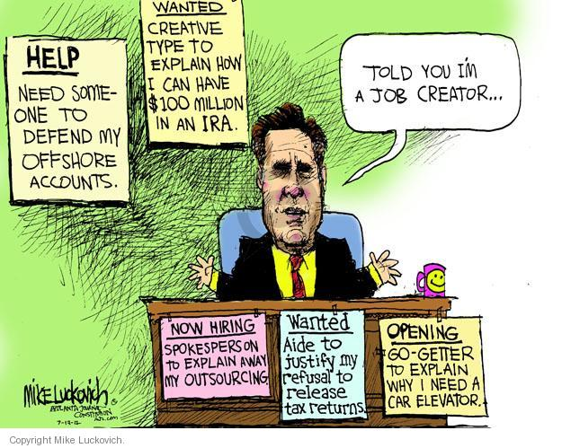 Mike Luckovich  Mike Luckovich's Editorial Cartoons 2012-07-13 republican politician