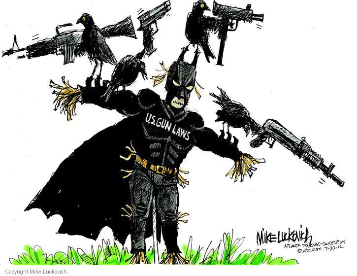 Cartoonist Mike Luckovich  Mike Luckovich's Editorial Cartoons 2012-07-23 gun control law