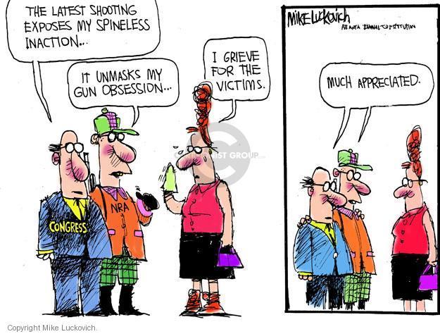 Cartoonist Mike Luckovich  Mike Luckovich's Editorial Cartoons 2012-08-15 shoot