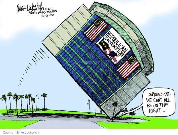 Cartoonist Mike Luckovich  Mike Luckovich's Editorial Cartoons 2012-08-30 political convention