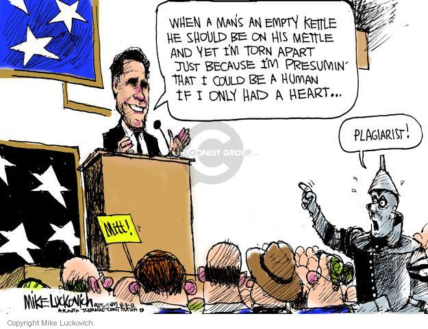Cartoonist Mike Luckovich  Mike Luckovich's Editorial Cartoons 2012-08-31 political convention