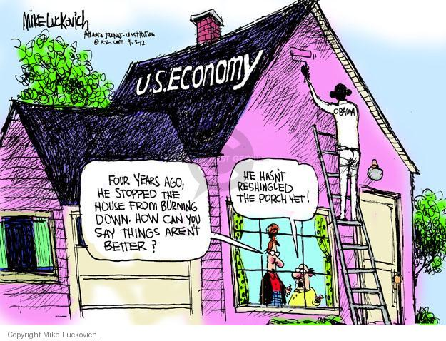 Cartoonist Mike Luckovich  Mike Luckovich's Editorial Cartoons 2012-09-05 Presidency