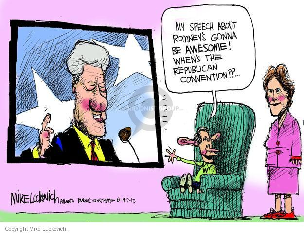 Mike Luckovich  Mike Luckovich's Editorial Cartoons 2012-09-07 Bill Clinton