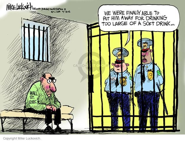 Cartoonist Mike Luckovich  Mike Luckovich's Editorial Cartoons 2012-09-14 jail