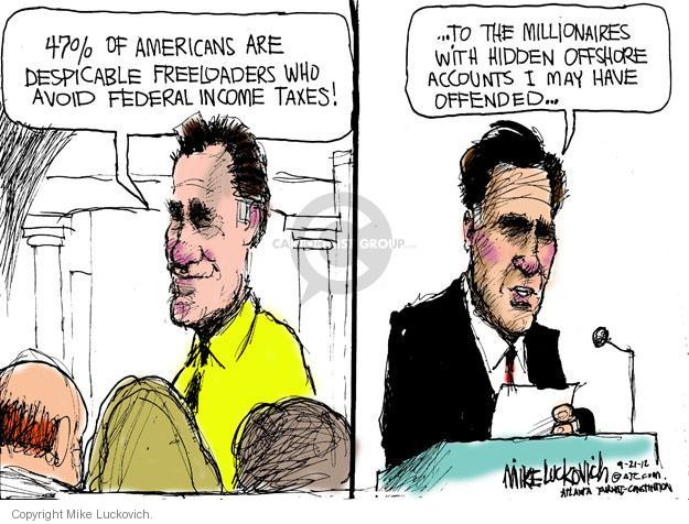 Cartoonist Mike Luckovich  Mike Luckovich's Editorial Cartoons 2012-09-21 payment