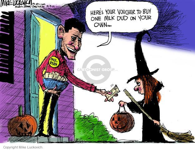 Cartoonist Mike Luckovich  Mike Luckovich's Editorial Cartoons 2012-10-09 health care children