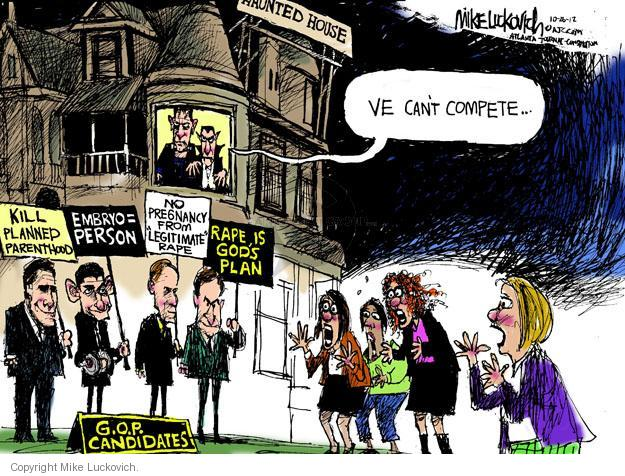 Cartoonist Mike Luckovich  Mike Luckovich's Editorial Cartoons 2012-10-26 woman