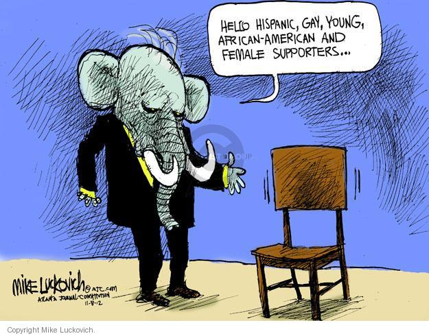 Cartoonist Mike Luckovich  Mike Luckovich's Editorial Cartoons 2012-11-08 African