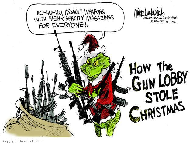 Cartoonist Mike Luckovich  Mike Luckovich's Editorial Cartoons 2012-12-18 high school