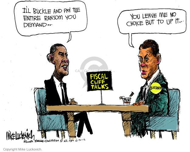 Mike Luckovich  Mike Luckovich's Editorial Cartoons 2012-12-20 Obama Boehner