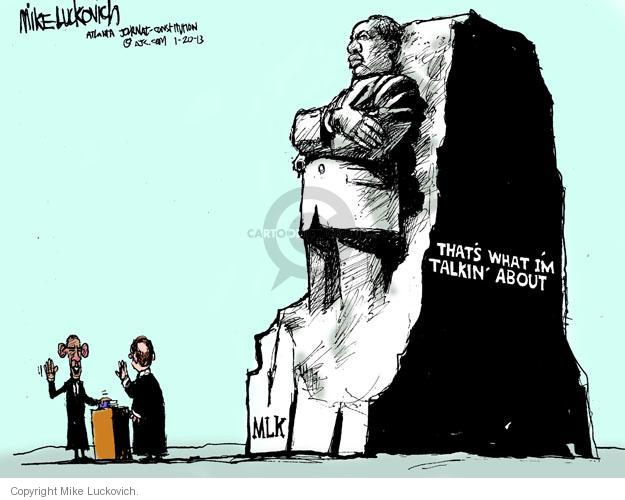 Cartoonist Mike Luckovich  Mike Luckovich's Editorial Cartoons 2013-01-20 Martin Luther King Jr.
