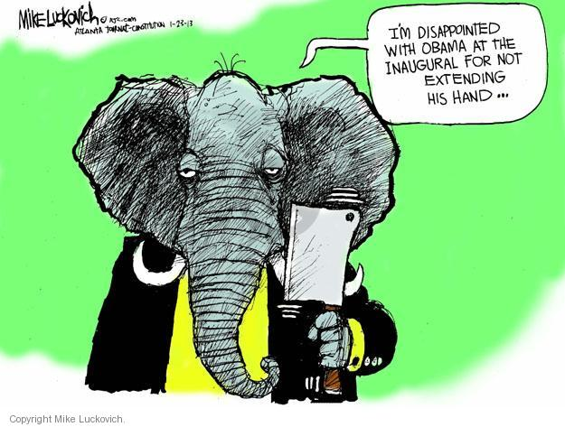 Mike Luckovich  Mike Luckovich's Editorial Cartoons 2013-01-23 republican politician
