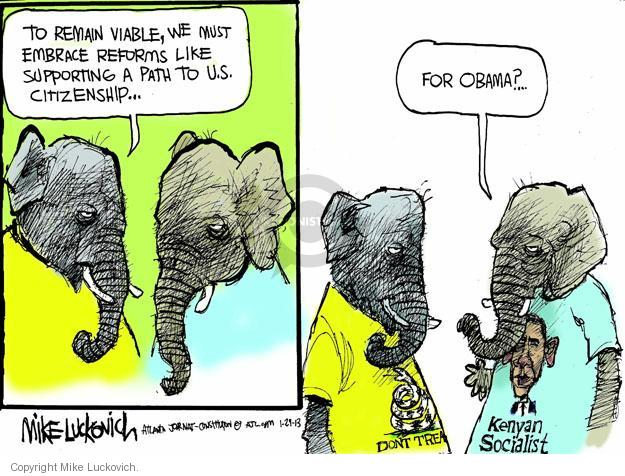 Mike Luckovich  Mike Luckovich's Editorial Cartoons 2013-01-29 republican politician