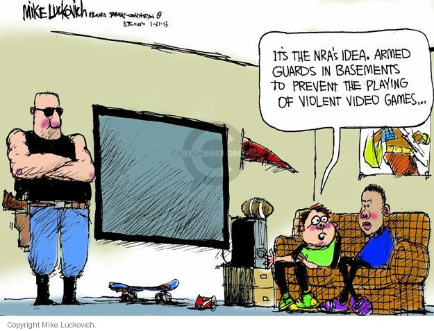Cartoonist Mike Luckovich  Mike Luckovich's Editorial Cartoons 2013-01-31 arms
