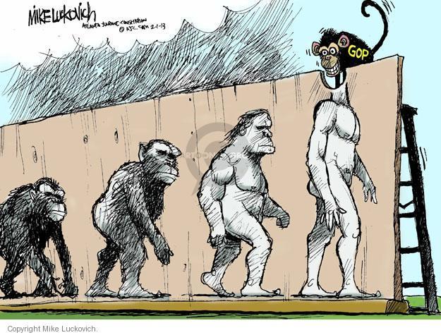 Mike Luckovich  Mike Luckovich's Editorial Cartoons 2013-02-01 republican politician