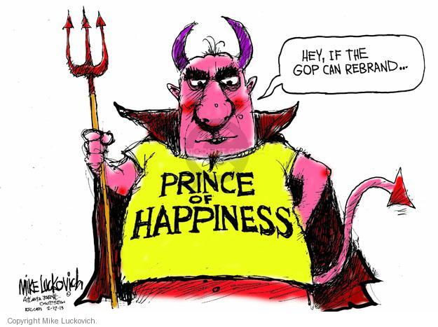 Cartoonist Mike Luckovich  Mike Luckovich's Editorial Cartoons 2013-02-17 happy