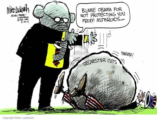 Cartoonist Mike Luckovich  Mike Luckovich's Editorial Cartoons 2013-02-20 cutting